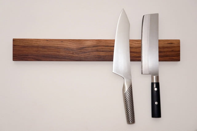 how to build a magnetic knife rack digital trends On how to make a magnetic knife holder