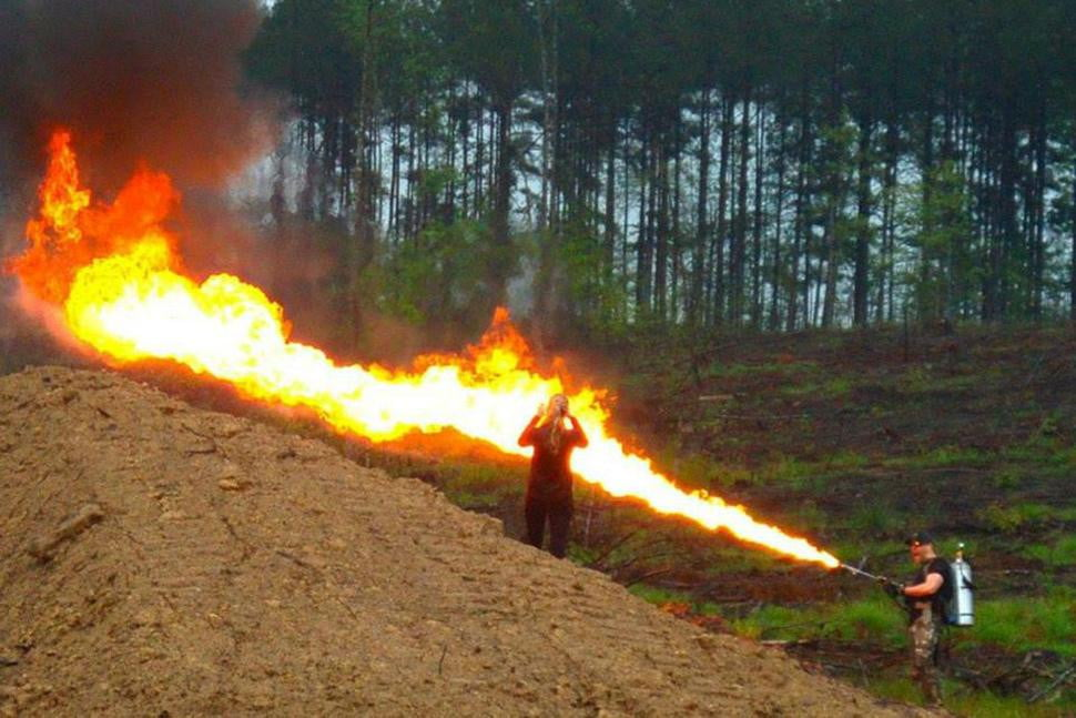 Ridiculous And Legal Flamethrower Spits 65 Foot Stream Of